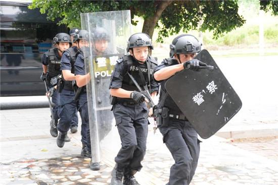 南沙区公安分局会同有关部门举办反恐应急演练