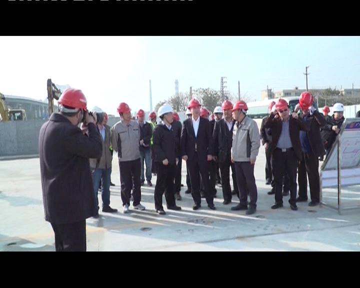 蔡朝林带队开展安全生产执法检查