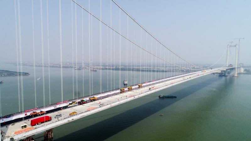 虎门二桥启动钢桥...