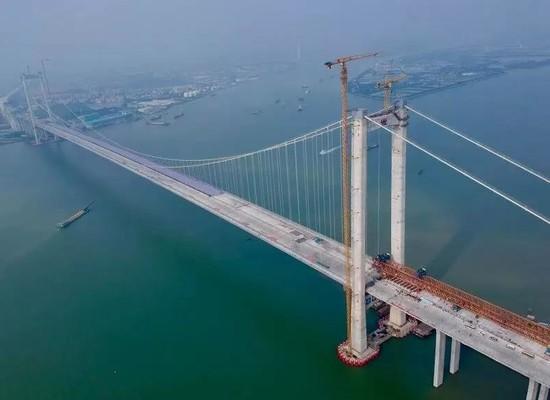 广州虎门二桥全线...