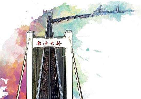一桥似飞虹 湾区...