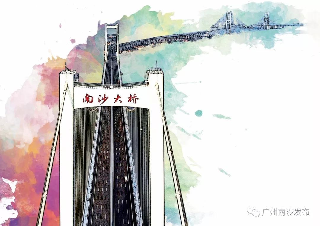 一桥似飞虹,湾区...